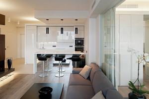 110平米现代简约风格开放式厨房效果图鉴赏