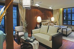 146平米现代中式风格室内装修效果图鉴赏