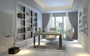 现代风格三居室小男孩书房设计装修效果图