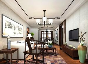 中式风格别墅客厅装修效果图鉴赏