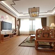 中式风格大户型仿古客厅装修效果图赏析