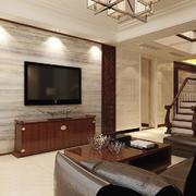 中式风格复式楼客厅装修效果图鉴赏