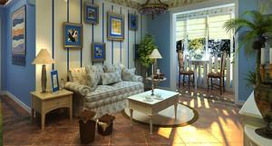 地中海风格两居室室内装修效果图鉴赏