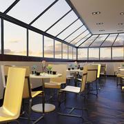 160平米简约风格咖啡厅装修效果图
