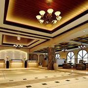 200平米现代风格酒店大堂装修效果图