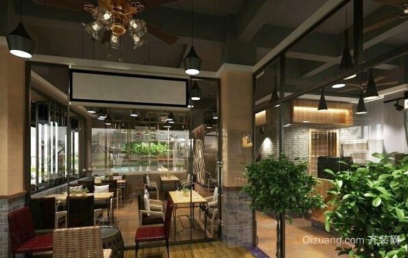90平米现代风格咖啡厅装修效果图赏析
