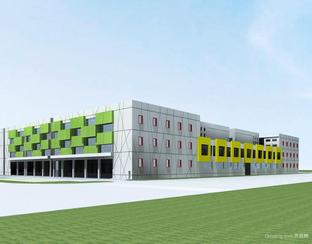 900平米现代风格工厂房设计效果图