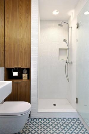 现代简约风格三居室白色瓷砖卫生间装修效果图赏析