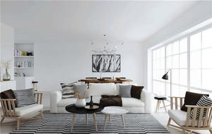 北欧风格小户型条纹地毯效果图赏析