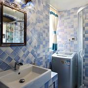 地中海风格单身公寓卫生间装修效果图鉴赏
