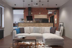 80平米复古工业风风格室内装修效果图鉴赏