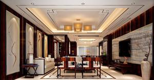 古典中式风格大户型客厅装修效果图赏析