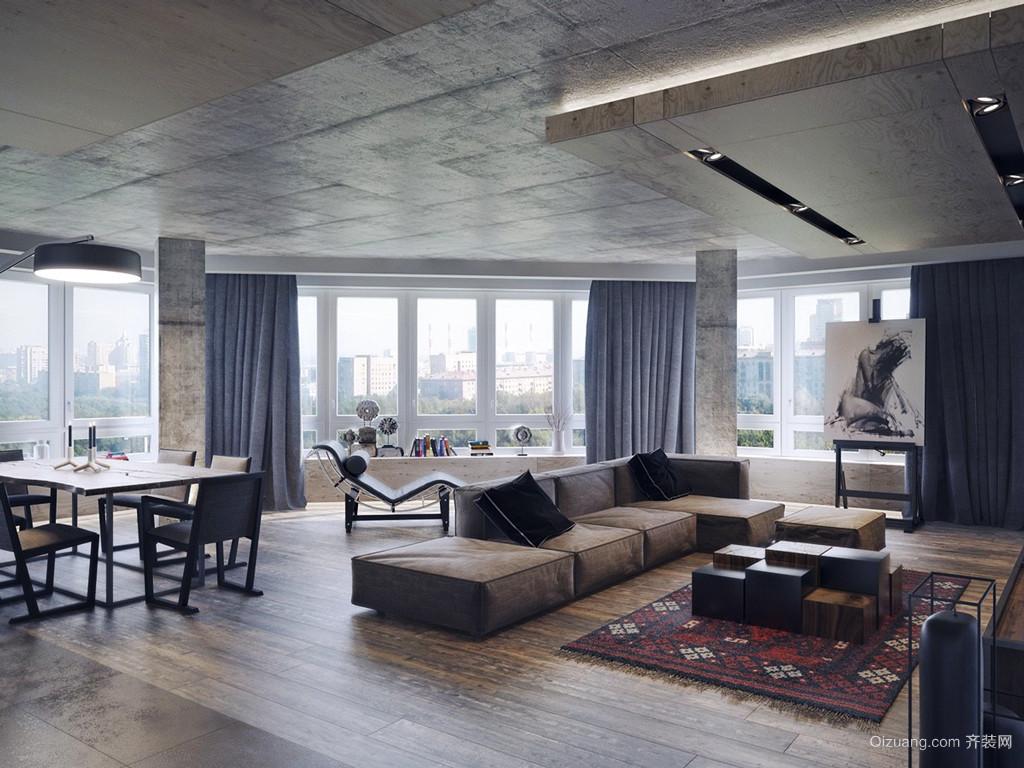 后现代风格开放式公寓室内装修效果图赏析