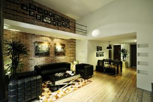 后现代风格黑色主题两居室室内装修效果图赏析