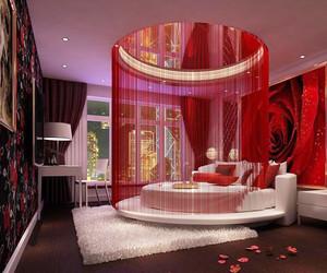 现代风格三居室婚房卧室吊顶设计效果图赏析