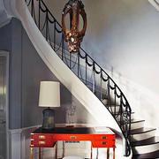 简欧风格复式楼楼梯设计效果图鉴赏