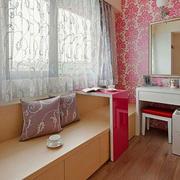 简约风格女生公寓卧室飘窗设计效果图