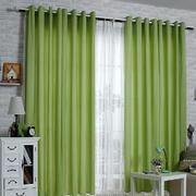 80平米欧式田园风格卧室罗马杆窗帘效果图