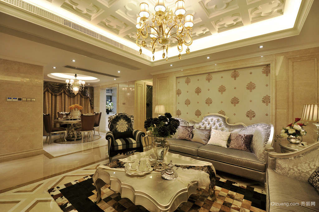 欧式风格别墅室内装修效果图赏析-齐装网装修效果图