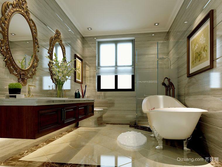 欧式风格大户型豪华卫生间装修效果图
