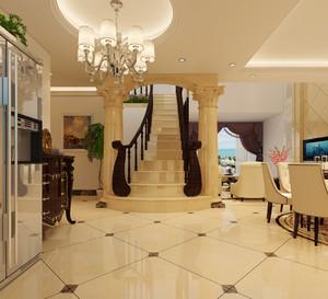 欧式奢华风格别墅楼梯设计效果图赏析