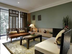 120平米现代中式风格室内装修效果图鉴赏
