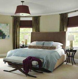 美式风格两居室卧室小窗户窗帘效果图鉴赏