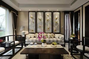 350平米新中式风格别墅室内装修效果图鉴赏