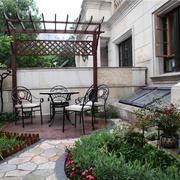 新中式风格别墅景观阳台装修效果图