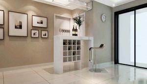 75平米简欧风格客厅玄关吧台设计效果图赏析