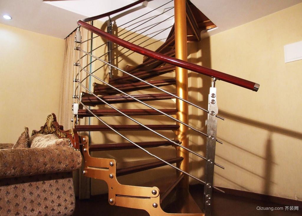 美式风格跃层楼梯设计效果图鉴赏