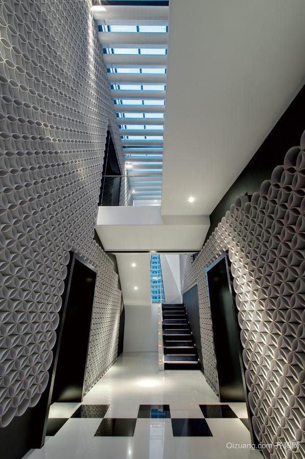 500平米现代风格高端写字楼设计效果图