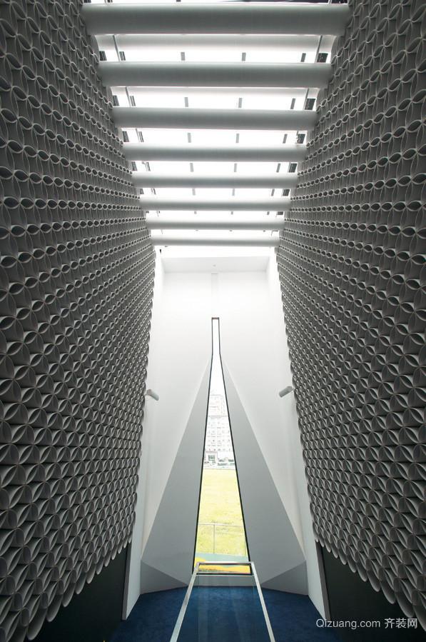 680平米现代风格写字楼过道装修设计效果图