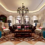 162平米地中海风格客厅吊灯效果图赏析