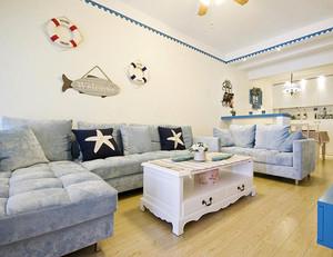 134平米地中海风格客厅装修效果图赏析