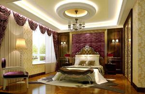 复古法式风格别墅卧室吊顶设计效果图鉴赏