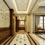 430平米复古欧式风格别墅玄关设计效果图