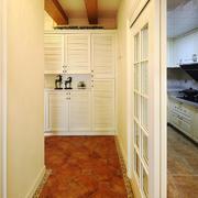 简欧风格三居室玄关厨房隔断设计效果图