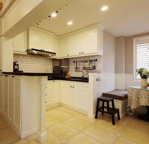 10平米美式风格白色厨房装修效果图鉴赏