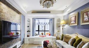 美式风格小户型客厅飘窗设计效果图赏析