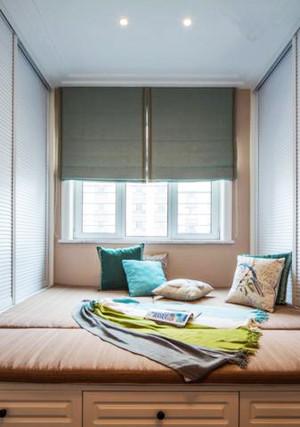 5平米美式风格飘窗榻榻米设计效果图赏析