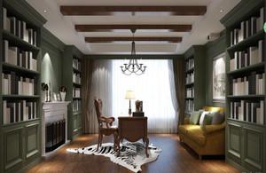 美式风格别墅书房吊顶设计效果图赏析