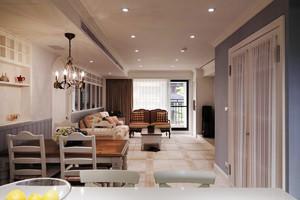 78平米美式田园风格客厅装修效果图赏析