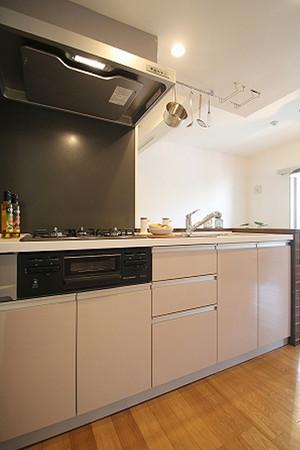 90平米美式乡村风格开放式厨房装修效果图赏析