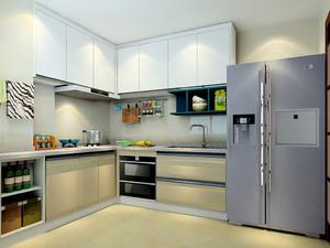 现代风格两居室厨房免漆板橱柜效果图赏析