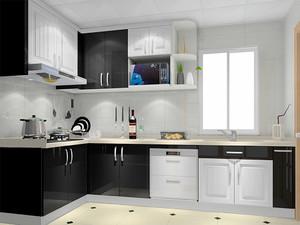 现代简约风格大户型厨房免漆板橱柜效果图