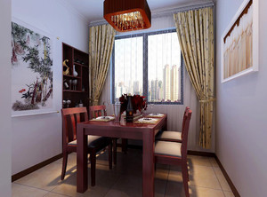 95平米中式风格餐厅装修效果图赏析