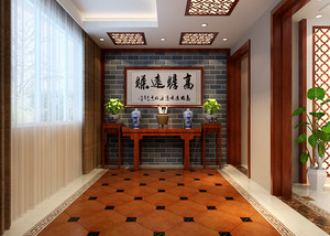 中式风格别墅玄关设计效果图鉴赏