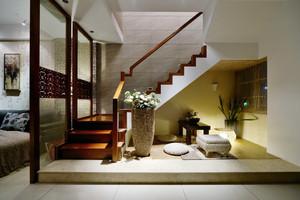 中式风格高端别墅楼梯设计效果图
