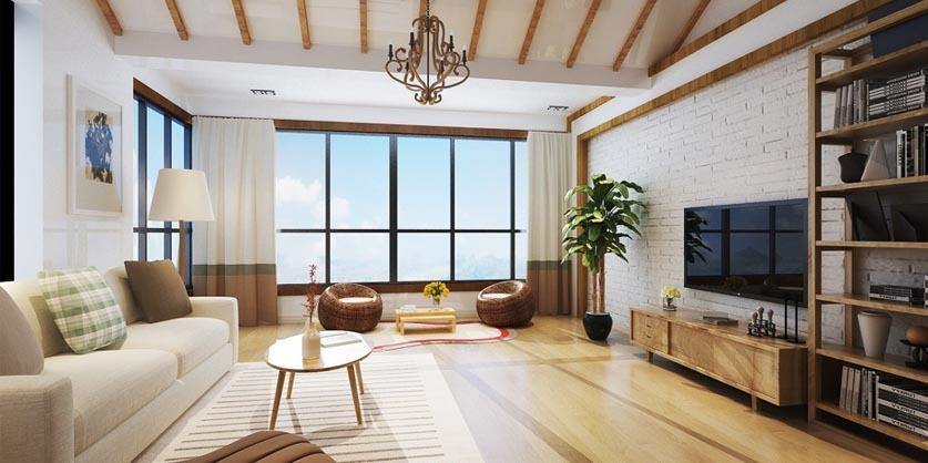 日式风格,客厅装修效果图